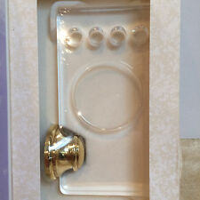 Images Baldwin SEACREST Acrylic Toothbrush/Cup Holder POLISHED BRASS 3537-030