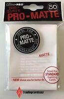 ♦Pokémon♦ 50 Protèges Cartes/Pochettes/Sleeves STANDARD Ultra PRO-MATTE Blanc