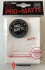 ♦MTG/Pokémon♦ 50 Protèges Cartes/Sleeves Ultra PRO-MATTE STANDARD Blanc (White)
