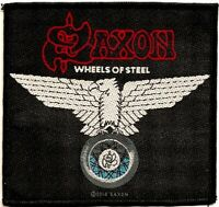 Official Licensed Merch Woven Sew-on PATCH Metal Rock SAXON Wheels of Steel
