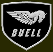 """BUELL EMBROIDERED PATCH ~3-1/2"""" x 3-3/8"""" S1 LIGHTNING S3 BORDADO PARCHE AUFNÄHER"""