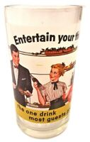"Coca-Cola Coke ""Entertain your thirst"" Barmaid Man in Tuxedo Juice Glass Tumbler"
