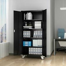 Tall Storage Cabinet Kitchen Pantry Cupboard Organizer Furniture w/Shelf&Door