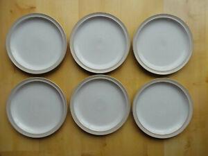 """DENBY LINEN 10.25"""" (26cm) WIDE DINNER PLATES X6"""