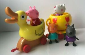 Peppa Pig ride on duck set  figures bundle lot (M1)