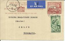Malta postal card-HG:19 uprated SG#249-AIR MAIL MALTA-AP/21/49