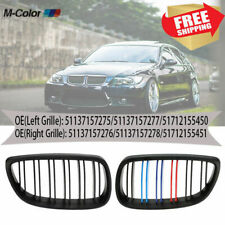Black Front Kidney Grille Grill Dual Line For 07-2010 BMW E92 E93 3Series 328i