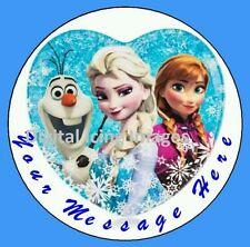 Cake topper edible digital image icing Frozen REAL FONDANT 19cm