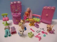 Fashion POLLY POCKET Doll Furniture Trendy Paw Salon/Dazzle Sparkle Pets Dog Cat
