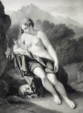 """PIETER VAN DER WERFF - """"Heilige Magdalena"""" - Lithographie um 1840"""