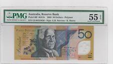 Australia 50 Dollars 2008 P60f  PMG 55. Sig. Stevens & Henry.