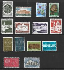 LUXEMBOURG PAGE OF 30 M.N.H & USED; ALL STAMPS SOUND.
