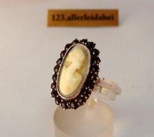alter Granat Gemme Ring 900 Silber Granat old garnet / BH 813