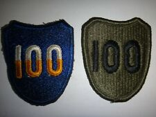 Set Of 2 US Army 100th AIRBORNE DIVISION Color And Subdued Patches