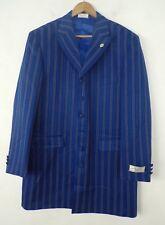 NWT DEN ZEL COLLECTION Mens Blue & White Striped Blazer Sport Coat 42R RV $249