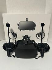 Oculus Rift CV1 Virtual Reality Headset with Controllers and Sensors Complete