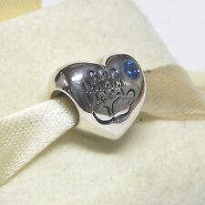New Authentic Pandora Charm 791281CZB Baby Boy Blue CZ Bead Box Included