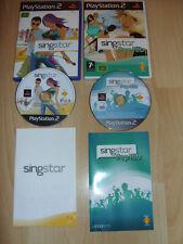 PLAYSTATION 2 GAME SINGSTAR POP HITS & SINGSTAR *FREE UK P&P*