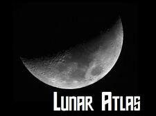Lunar Atlas Moon Maps Charts Software Astronomy Stargazing Space + Free P+P!