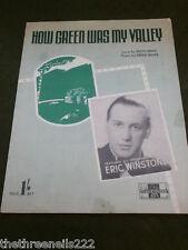ORIGINALE SPARTITI MUSICALI-come era verde la mia valle-Eric WINSTONE