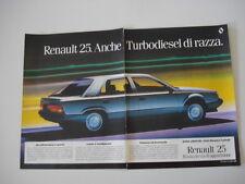 advertising Pubblicità 1984 RENAULT 25 TURBO DX