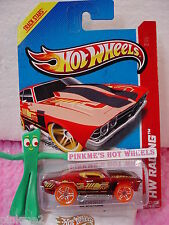 Case B/C 2013 i Hot Wheels '69 Chevy CHEVELLE 1969 #137☆Trans RED☆Track Stars