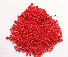 15gr  perline conteria in vetro  3mm  8/0 colore rosso