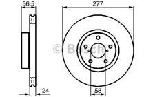 BOSCH Juego de 2 discos freno 277mm ventilado SUBARU IMPREZA 0 986 479 147