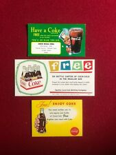 """1950's / 60's , Coca-Cola, """"Un-Used"""" Coupons (3 Different) Scarce"""