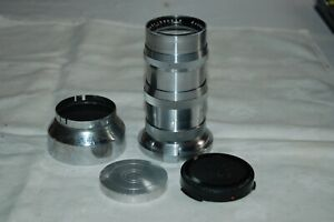Zeiss Sonnar Telephoto Lens. 4/135 mm. Contax Bayonet Mount. Caps, Hood. 1930255