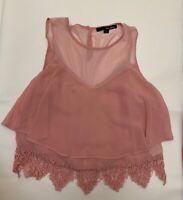 Tally weijl Pink Camisole Top sleepwear nightwear size S