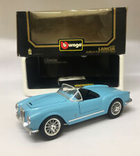 1:18 1955 Lancia Aurelia B24 Spider Diecast By Burago *Excellent Condition* Blue