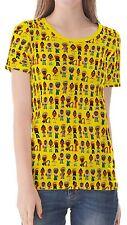 Cartoon Regular Size Basic T-Shirts for Women