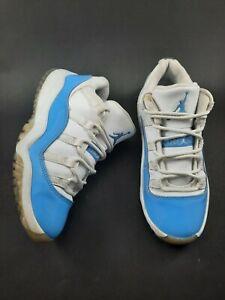 Nike Air Jordan 11 Retro Low UNC University Blue 505835-106 Kids Sz 1Y 2016