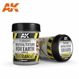 Ak Interactive AK8023 - TERRAINS NEUTRAL TEXTURE FOR EARTH 250ML (BASE PRODUCT)