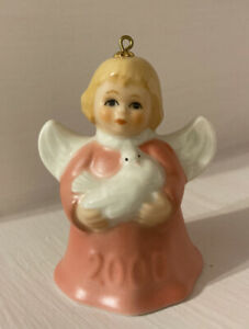 Vintage Goebel 2000 Christmas Angel with Dove Bell Ornament