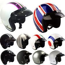 Viper RS04 Open Face Motorbike Motorcycle Helmet Scooter Crash Jet Retro Vintage