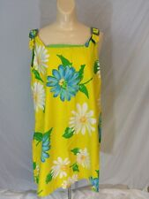 Vintage Hippie Flower Girl Sun Dress Multi Color Floral Pattern