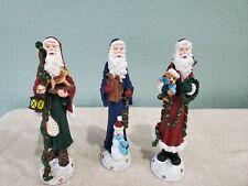 Set of 3 Enesco Pencil Santa's