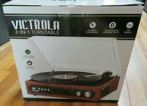 Victrola All-in-1 Bluetooth Record Player with Built in Speakers and Turntable