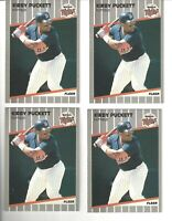 1989 Fleer Baseball Kirby Puckett Minnesota Twins #124, Lot of 4