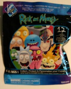 Rick And Morty K-bling - Brand New Un-opened - Phone Cable Clip - 12 in Set