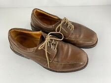 Sandro Moscoloni Men's Brown Leather Lace Up Oxford Shoes 12018 Size 10.5 EEE X6