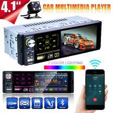 RDS AM FM Radio 4.1 Inch 1 DIN Touch Screen Car Stereo MP5 Player BT TF + Camera
