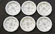 6 assiettes plates PORCELAINE DE LIMOGES HAVILAND PATE IVOIRE DECOR MARGUERITES*
