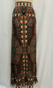 NWOT Farm Rio Anthropologie  Long Print Knit Maxi Skirt L Large
