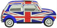 Iron On/ Sew On Embroidered Patch Badge Mini Union Jack Side Cooper