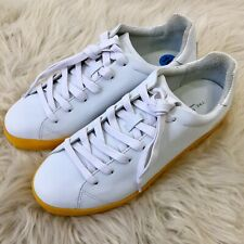 Rag & Bome RB1 Sneakers White With Yellow Soles Never Worn Womens Size 10