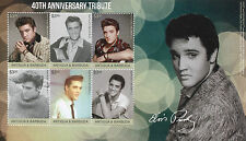 Antigua & Barbuda 2017 MNH Elvis Presley 40th Anniv 6v M/S II Music Stamps