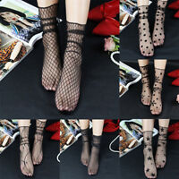 EE_ WOMEN FASHION STAR GRID TIGHT LACE SOCKS SEXY SEE-THROUGH PARTY SOCKS NICE